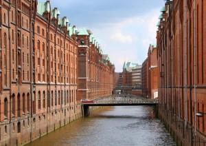 Speicherstadt warehouse district of Hamburg, Germany